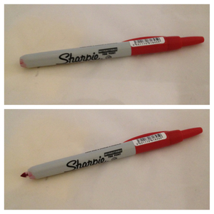 sharpie click on red