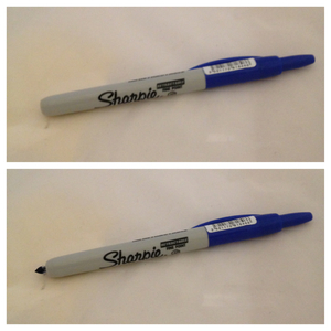 sharpie click on blue