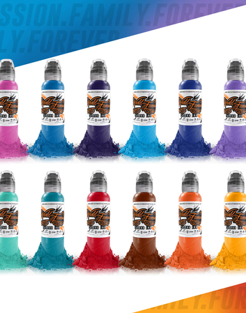World Famous Primary Color Ink Set #2 | 12x30ml