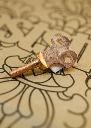Copper plated vice screw - Winder